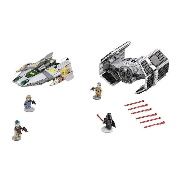 LEGO Star Wars Darth Vader's TIE Advanced Fighter vs